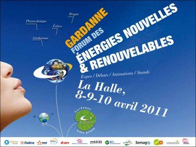Forum pour les énergies nouvelles et renouvelables, 8, 9 et 10 avril 2011 à Gardanne.